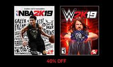 BLACK FRIDAY DEALS: Spare bis zu 40% auf NBA 2K19 und WWE 2K19