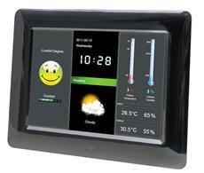 BRAUN DigiFrame 800 Weather: 8 Zoll Bilderrahmen für Filme und Fotos mit Wetterstation und Außensensor