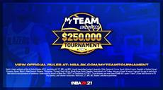 Das NBA 2K21 MyTEAM Unlimited $250,000 USD Tournament startet