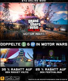 Diese Woche in GTA Online: Doppelte Belohnungen in Motor Wars, Rabatte auf alle Luxus-Apartments & mehr