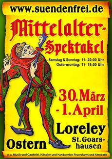 Osterspektakel Loreley bei. St. Goarshausen - Ostern 2013