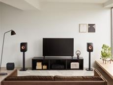 KEF Lifestyle LS50Meta CarbonBlack withS2FloorStand KC62 Entertainment