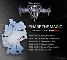 Kingdom Hearts III: Deutschland-Tour mit Anspiel-Stationen in sechs Städten
