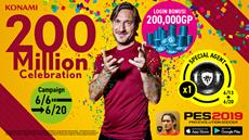 PES 2019 Mobile erreicht 200 Millionen Downloads