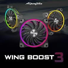 BRANDNEU bei Caseking - Alpenföhn Wing Boost 3 RGB Lüfter vereinen starke Kühlperformance mit beeindruckender Beleuchtung