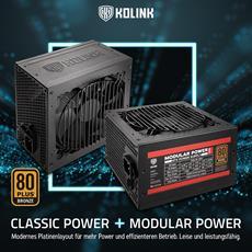 Die Kolink Power-Netzteile mit bis zu 700 Watt und 80 PLUS Bronze