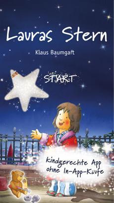 Lauras Stern: Klaus Baumgarts Kultbuch für Kinder ab sofort auf dem iPad, dem iPhone und für Android!