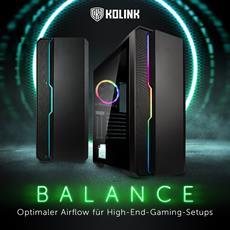 NEU bei Caseking - Das moderne High-Airflow-Gehäuse Kolink Balance ARGB!
