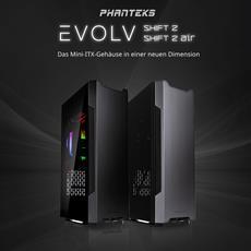Phanteks Evolv Shift 2 und Shift 2 Air: Mini-ITX-Cases in einer neuen Dimension - Jetzt bei Caseking vorbestellen!