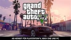 Rockstar Games kündigt Grand Theft Auto V für PlayStation 4, Xbox One und PC für Herbst an