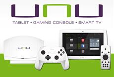 Unu – weltweit erstes All-in-One-Tablet, Gaming-Konsole und Smart-TV-System auf der CES 2013